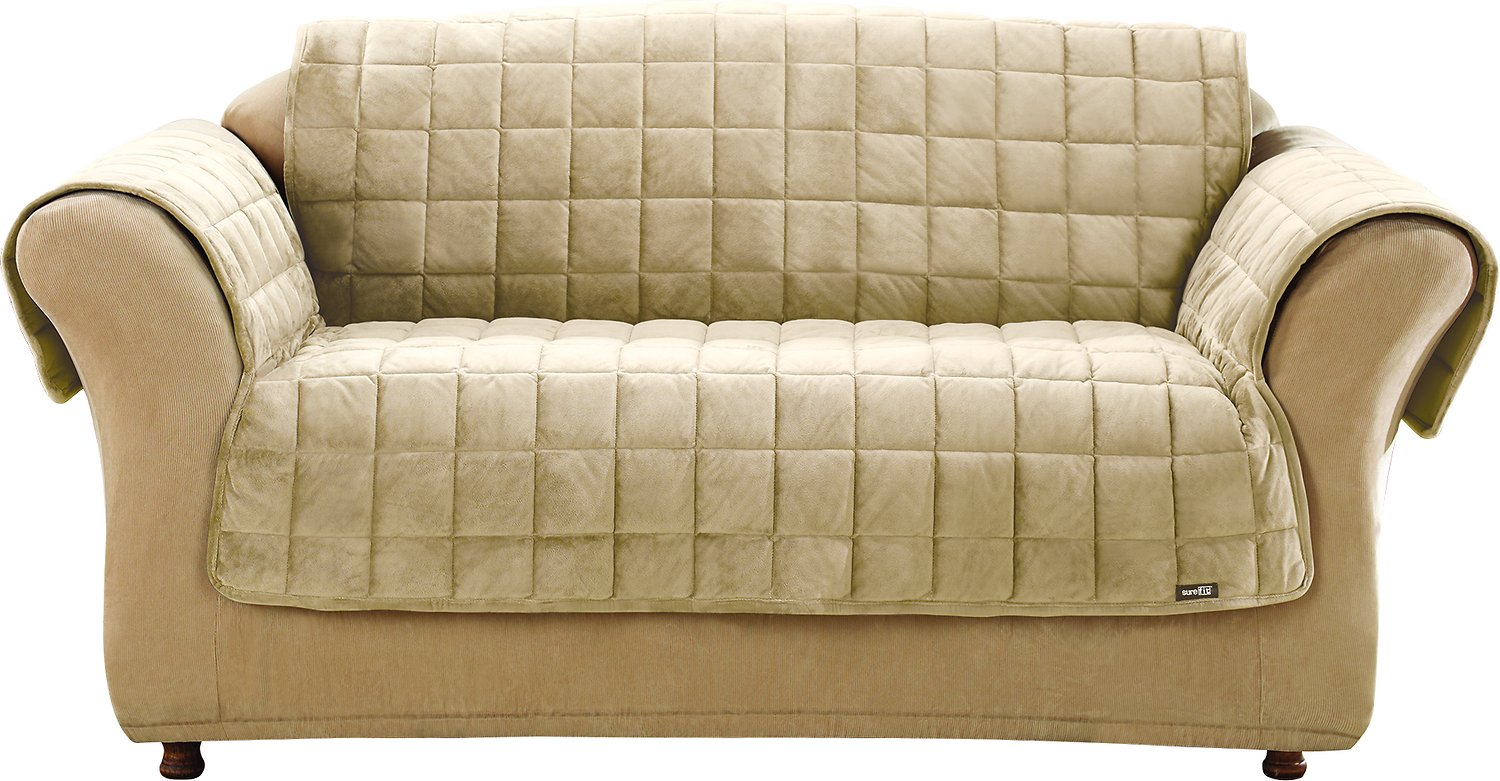 ivory sofa cover kasala colin sure fit deluxe loveseat chewy