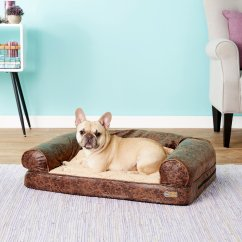 Fleas In Sofa No Pets Red Contemporary Sectional K Andh Pet Products Bomber Memory Dog Bed Brown Medium