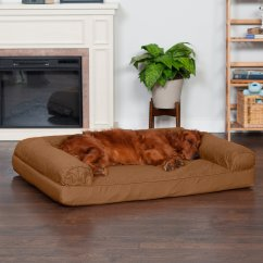 Sofa Dog Bed Skymall Manufacturers North Carolina Furhaven Quilted Orthopedic And Cat Warm Brown