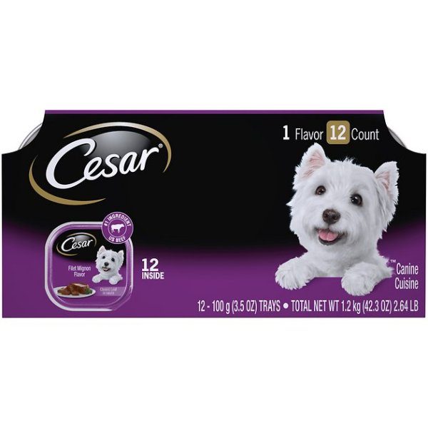 Cesar Classics Filet Mignon Flavor in Meaty Juices Dog