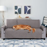 sofa coverings dogs power reclining sofas reviews dog blankets furniture covers low prices free shipping chewy furhaven water resistant reversible protector gray mist