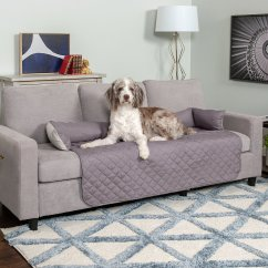 Fleas In Sofa No Pets Klaussner Empress Power Reclining Furhaven Buddy Dog And Cat Bed Furniture Cover Gray