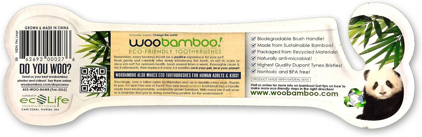 Woobamboo Dog Amp Cat Toothbrush Small Chewy Com