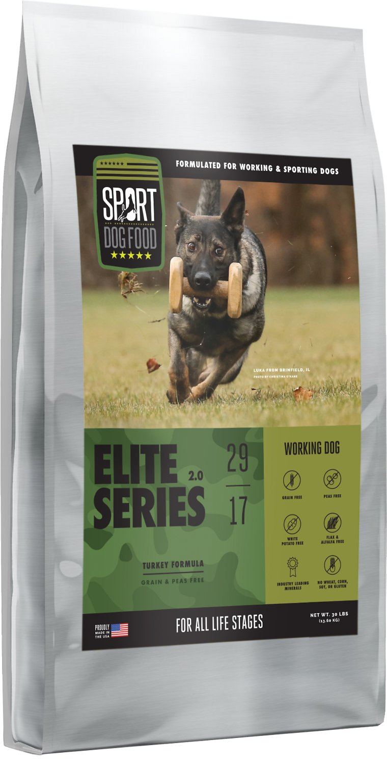 Grain Free Dog Food Without Peas : grain, without, SPORT, Elite, Series, Working, Grain-Free, Turkey, Formula, Food,, 30-lb, Chewy.com