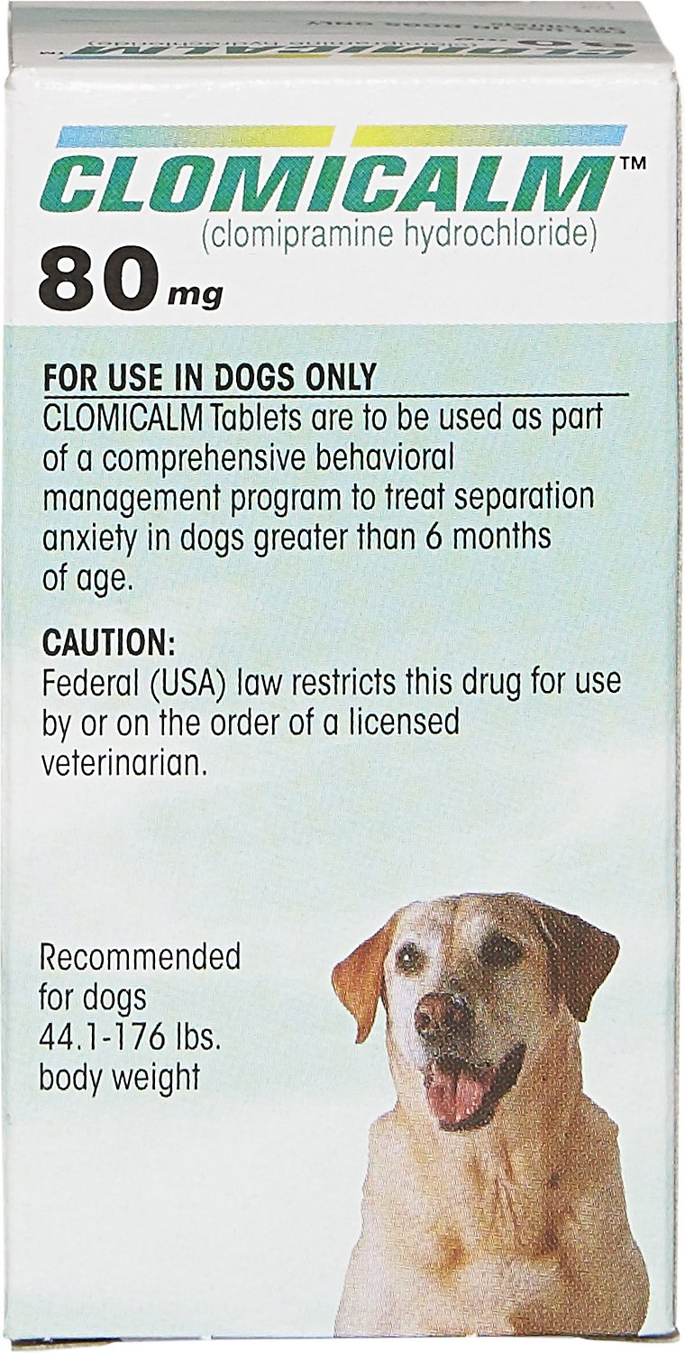 Clomicalm (Clomipramine HCl) Tablets for Dogs 80-mg 1 ...