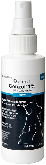 Miconazole Nitrate (Generic) Spray 1% for Dogs & Cats 120 ...