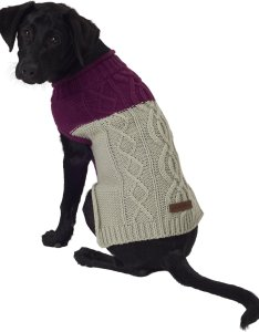 Video also eddie bauer two tone cable dog sweater medium plum wine  grey rh chewy