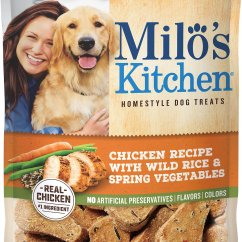 Milos Kitchen Aid Ice Maker Milo S Chicken Recipe With Wild Rice Spring Vegetables Dog Treats