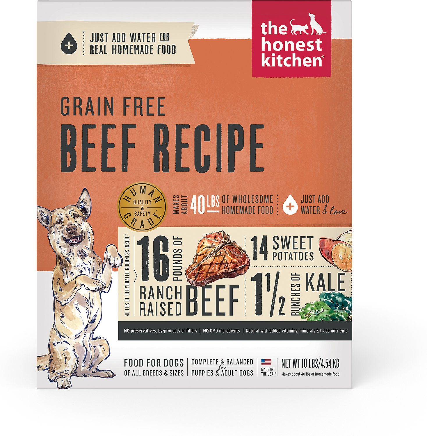 the honest kitchen commercial wall covering grain free beef recipe dehydrated dog food 10 lb