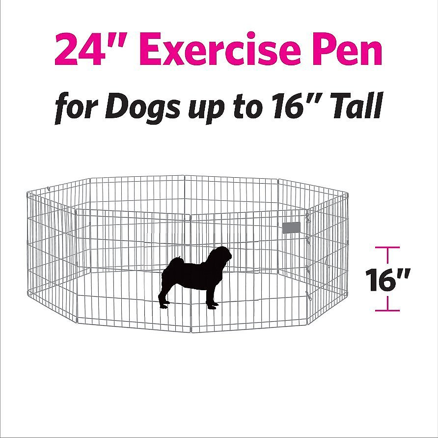 MidWest Exercise Pen with Full MAXLock Door, Black, 24-in