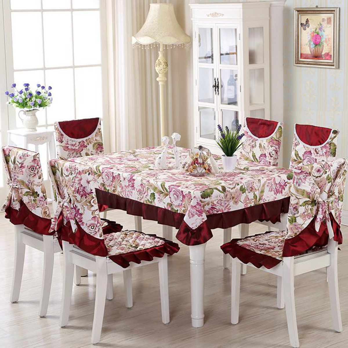 chair covers vintage best buy computer chairs fantastic floral lace table cloth dining set wedding party decor newchic
