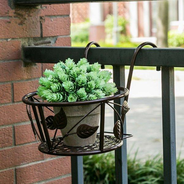 Iron Art Hanging Baskets Flower Pot Holder Patio