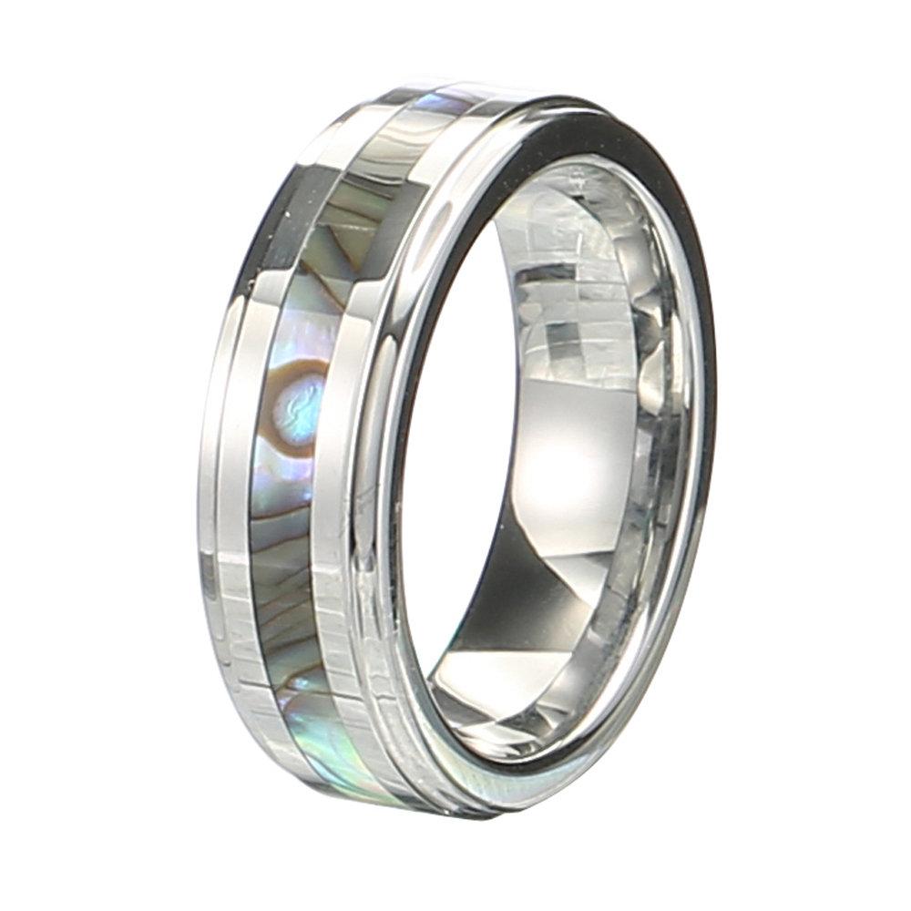 Klassische 6mm Wolframcarbid Ring Shell Wolfram Stahl Colorfast Anallergic Ringe fr Mnner