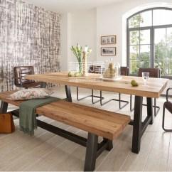 Bench For Kitchen Table Outdoor Bbq 美式实木桌椅组合loft桌椅定制定制桌椅组合实木桌椅长方形桌子 优质企商网 厨房桌子的长凳