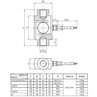 Industrial Weighing Tension Compression Load Cell S-type