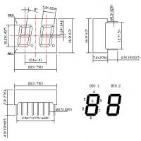 0.40 inch two digit 7 Segment LED Displays double digit