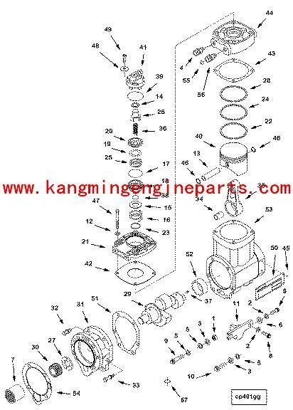 ummins KTA19 piston compressor 3045670 of item 45066004