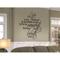 Life Is Not Measured Quote Wall Decal of item 41717501