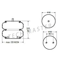 medium resolution of convoluted air suspension bag air rubber bellow spring for trailer firestone w01 358 7897