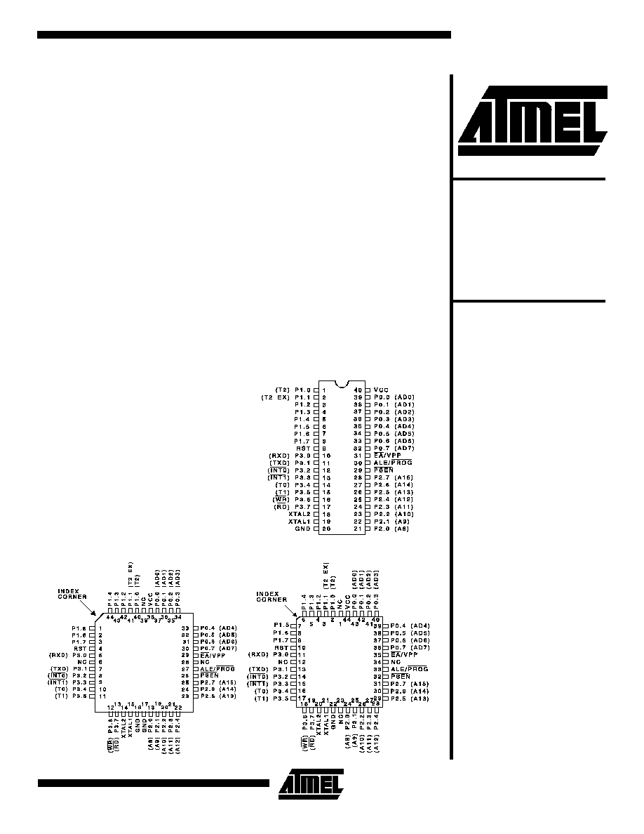 ATMEL 89C55WD PDF