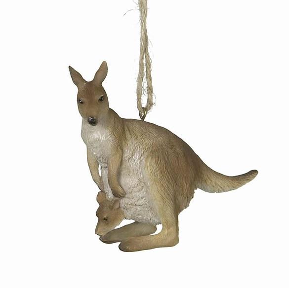 kangaroo with baby ornament