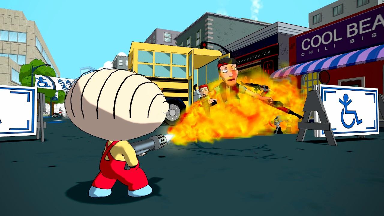 Family Guy: Back to the Multiverse Screenshots Shoot Up Quahog