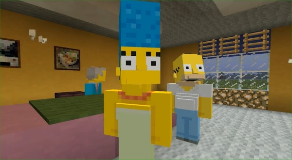 Minecraft Xbox One And Xbox 360 Adds Simpsons Characters Today