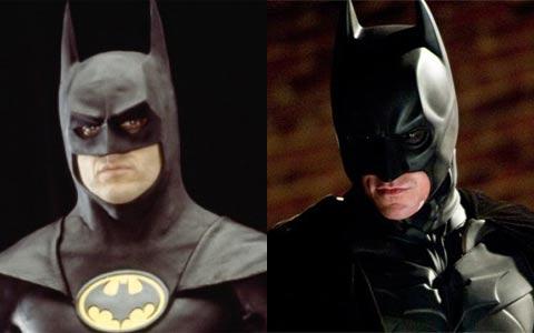 Image result for batman 1989 versus the dark knight
