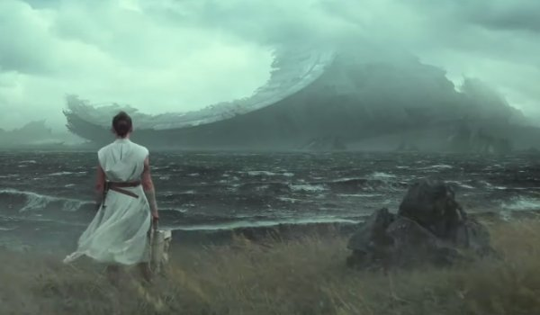 Star Wars: The Rise of Skywalker Rey looks out at the Death Star wreck