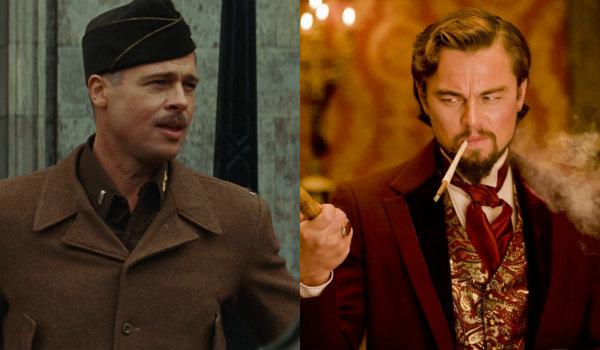 Brad Pitt and Leonardo DiCaprio in Inglourious Basterds and Django Unchained