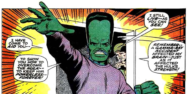 The Incredible Hulk The Leader comic appearance