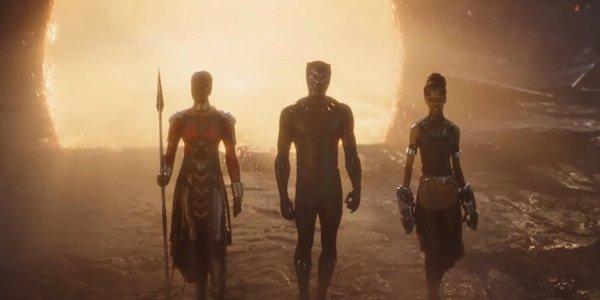 Okoye, Black Panther and Shuri in Avengers: Endgame