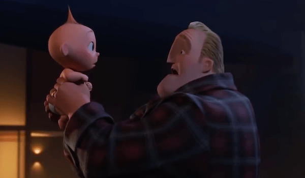 Jack-Jack and Bob Parr in Incredibles 2