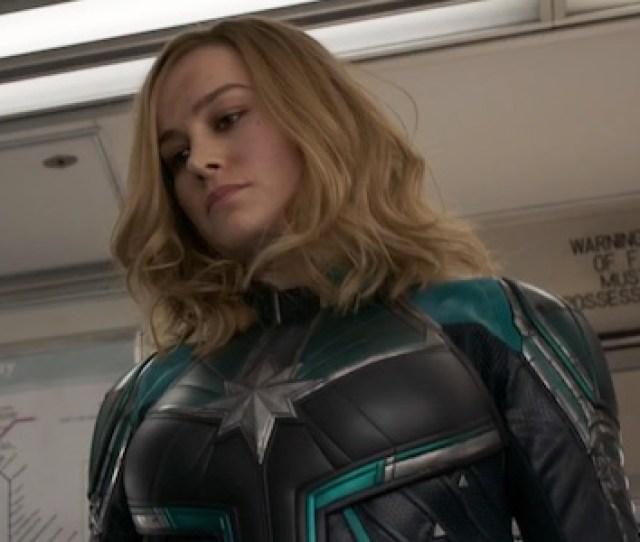 Captain Marvel Before Hitting A Grandma