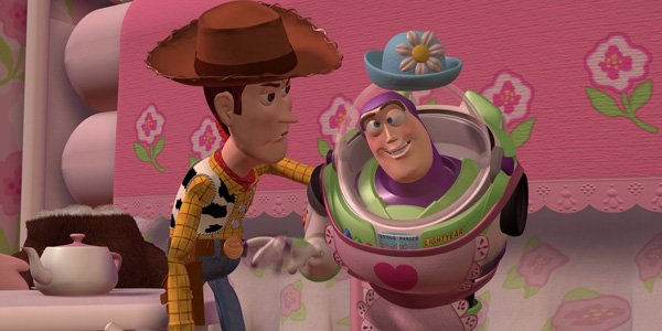 Buzz Lightyear in a hat in Toy Story 1