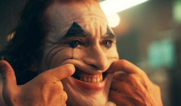 Joker forcing a smile