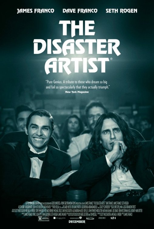The Disaster Artist Dave Franco and James Franco watch a movie medianet.info