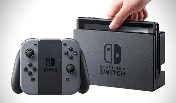 A nintendo switch console