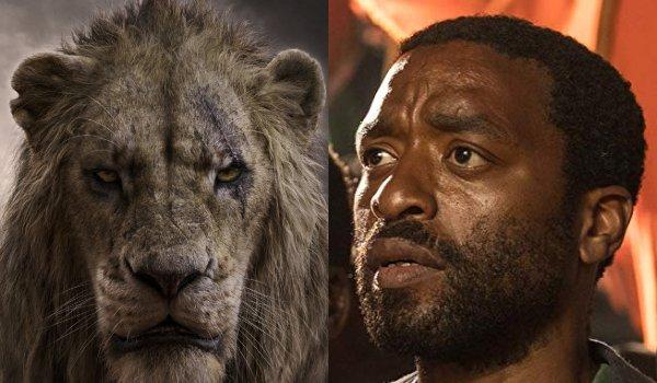 Le Roi Lion Scar et Chiwtel Ejiofor côte à côte