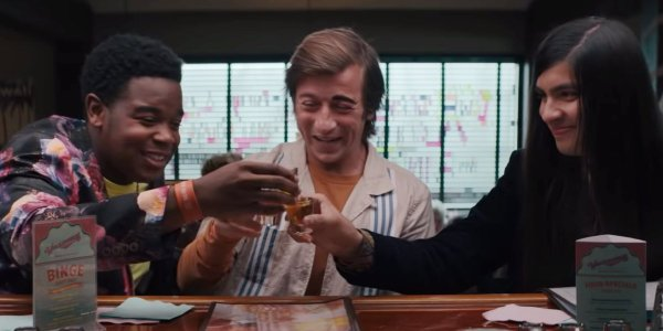 Dexter Darden, Skyler Gisondo, and Eduardo Franco in The Binge