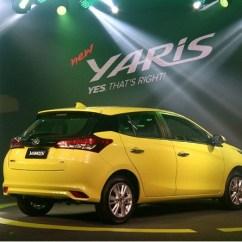 Toyota Yaris Trd 2017 Indonesia Grand New Veloz 1.5 Review Mobil Berwarna Kuning Dalam Pesta Perluncurkan Di Jakarta