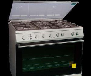 Cocina 6 hornillas cromada  Clasf