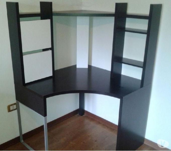 libreria multifunzionale kross mdf laccata bianca opaca salotto soggiorno studio. Scrivania Angolare Ikea Offertes Settembre Clasf