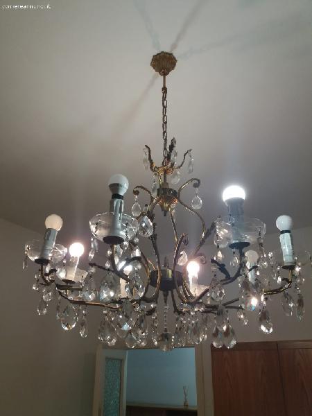 Antico lampadario maria antonietta con cascata di gocce. Lampadario Cristallo Gocce Annunci Agosto Clasf