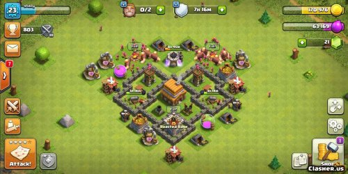 Copy Base [Town Hall 4] TH4 base Anti air anti small troop [With Link] [7 2019] War Base Clash of Clans Clasher us