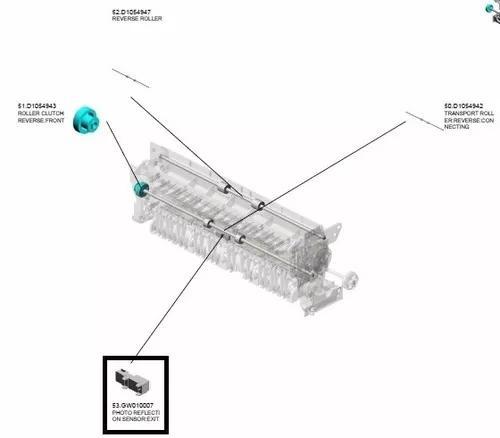 Sensor tamanho papel ricoh mpc2051 mpc2551 codigo