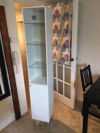Ikea flaren white bathroom cabinet | Posot Class