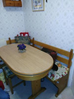 Comedor con mesa banco arcn esquinero  Posot Class