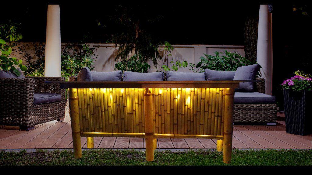 bamboo tiki bar patio table outdoor
