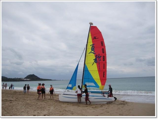 墾丁day2帆船初體驗& 油滋滋比基尼